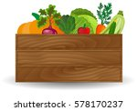 healthy freshly harvested... | Shutterstock .eps vector #578170237
