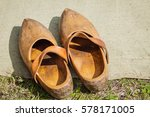Old Antique Wood Dutch Boot