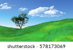 3d render of a grassy landscape ... | Shutterstock . vector #578173069