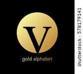 gold letter | Shutterstock .eps vector #578179141