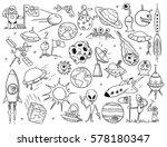 set of cartoon vector drawing... | Shutterstock .eps vector #578180347