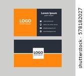 business card vector... | Shutterstock .eps vector #578182027