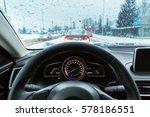 blurry car silhouette seen... | Shutterstock . vector #578186551