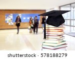 a school hall with book for... | Shutterstock . vector #578188279