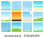 set of different bright... | Shutterstock .eps vector #578189395