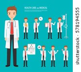 doctor occupation character... | Shutterstock .eps vector #578194555