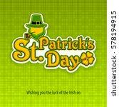 irish leprechaun lettering logo ... | Shutterstock .eps vector #578194915