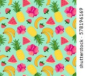 floral seamless pattern with... | Shutterstock .eps vector #578196169