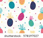 Seamless Pineapple Pattern With ...