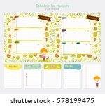 cute weekly planner template.... | Shutterstock .eps vector #578199475