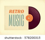 vintage vinyl record in a paper ... | Shutterstock .eps vector #578200315