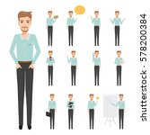 set of business man character... | Shutterstock .eps vector #578200384
