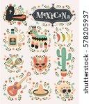 vector cartoon illustrations of ... | Shutterstock .eps vector #578205937