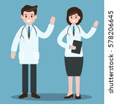 male doctor and female doctor.... | Shutterstock .eps vector #578206645