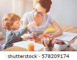 so creative. happy young... | Shutterstock . vector #578209174