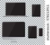 set of realistic computer... | Shutterstock .eps vector #578213911