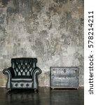 loft interior mock up photo.... | Shutterstock . vector #578214211