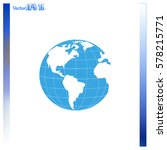 earth icon. globe icon | Shutterstock .eps vector #578215771
