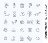 simple set of eco related... | Shutterstock .eps vector #578216269