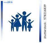 family vector icon | Shutterstock .eps vector #578216839