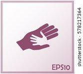 helping hands. vector... | Shutterstock .eps vector #578217364