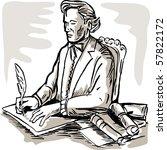 illustration of a gentleman... | Shutterstock . vector #57822172