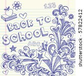 hand drawn back to school...   Shutterstock .eps vector #57822412