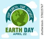 world earth day illustration... | Shutterstock .eps vector #578225767