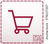 shopping cart icon. flat style... | Shutterstock .eps vector #578227207