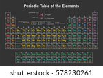periodic table of the elements... | Shutterstock .eps vector #578230261