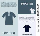 vector icon shirt  | Shutterstock .eps vector #578232685