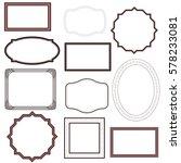 blank frames set. vector | Shutterstock .eps vector #578233081