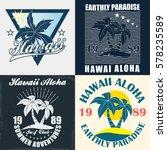 hawaii   vector illustration in ... | Shutterstock .eps vector #578235589