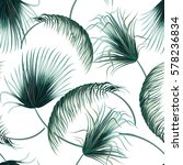tropical palm leaves  jungle... | Shutterstock .eps vector #578236834