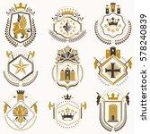 set of luxury heraldic vector... | Shutterstock .eps vector #578240839