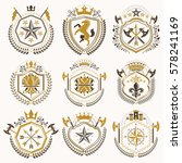 set of luxury heraldic vector... | Shutterstock .eps vector #578241169