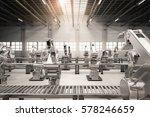 3d rendering robotic arm with... | Shutterstock . vector #578246659