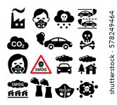 smog  pollution icons set  ... | Shutterstock .eps vector #578249464