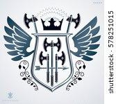 heraldic coat of arms  vintage... | Shutterstock .eps vector #578251015