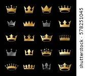 royal crowns ancient emblems... | Shutterstock .eps vector #578251045