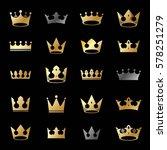 royal crowns ancient emblems... | Shutterstock .eps vector #578251279