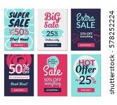 flat design sale website... | Shutterstock .eps vector #578252224