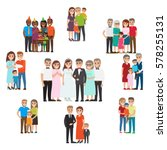 gathered family for holidays... | Shutterstock .eps vector #578255131