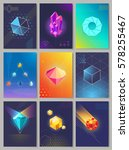 precious stones colourful... | Shutterstock .eps vector #578255467