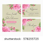 wedding invitation  thank you... | Shutterstock .eps vector #578255725