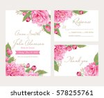 wedding invitation  thank you... | Shutterstock .eps vector #578255761
