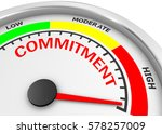 commitment level to maximum... | Shutterstock . vector #578257009