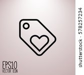 sale icon. flat style for... | Shutterstock .eps vector #578257234