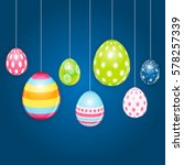 happy easter spring holiday... | Shutterstock .eps vector #578257339