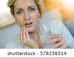 middle aged woman taking... | Shutterstock . vector #578258314